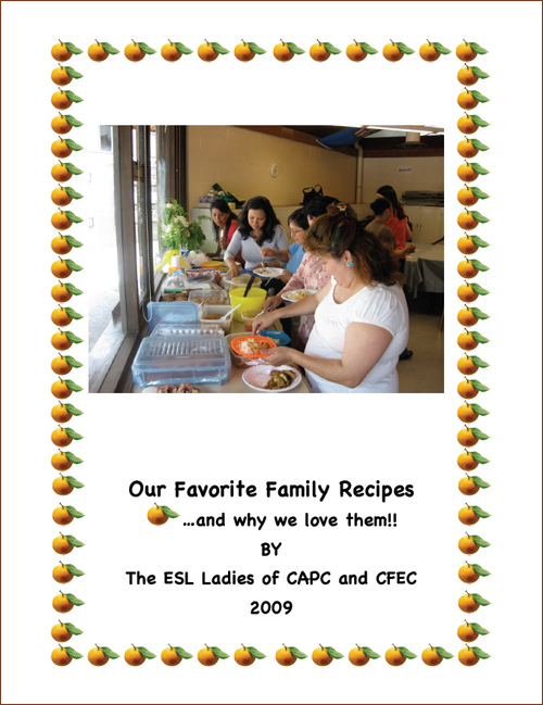 "Cover page of the Cookbook:""Our Favorite Family Recipes….and why we love them!!"